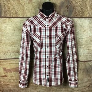 South Pole premium shirt snap front red (a54)
